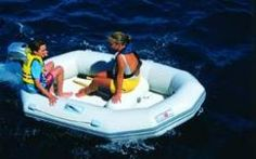 Avon inflatable dinghies are designed to be stable and safe.