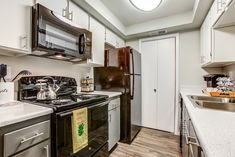 Our apartment homes are equipped with black appliances, updated cabinetry, brushed nickel lighting, and washers dryers. Black Appliances, Dryers, Washers, Brushed Nickel, Second Floor, Washer And Dryer, Apartments, Kitchen Cabinets, Floor Plans