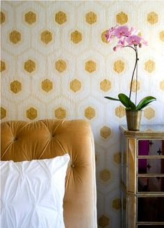 "DIY David Hicks inspired ""wall paper"" (actually paint, not paper!) from Apartment Therapy!"
