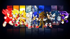 How to Draw Sonic the Hedgehog (All forms) His World