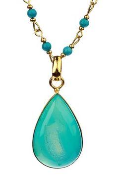 Natural Druzy Drop Necklace