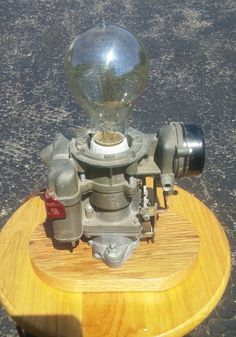 Ford Carburetor Lamp Mancave Upcycled by LavenDream on Etsy