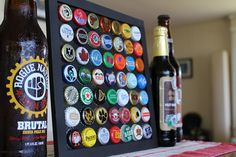 CAPPED. Mountable and magnetic frame for displaying beer bottle caps. Start a collection and create a work of art!