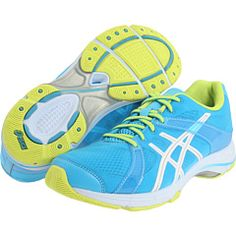 New Asics crosstrainers. Excited to get them! Neon Shoes, Yoga Shoes, Sweat It Out, Free Clothes, Asics, Fitness Fashion, Blue And White, Blue Green, Fashion Shoes