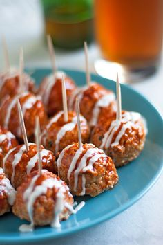 Learn how to make meatballs that are better than ever by making them into buffalo chicken meatballs. They're so sassy!