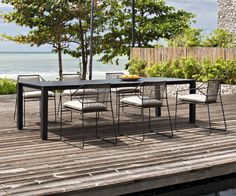 Why Teak Outdoor Garden Furniture? Modern Outdoor Furniture, Outdoor Rugs, Outdoor Tables, Outdoor Living, Outdoor Decor, Deck Decorating, Backyard Retreat, Patio Table, Dining Table