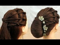 New Amazing wedding hairstyle with Easy Trick:party hairstyle function hairstyle Wedding Hair Tips, Wedding Hairstyles For Long Hair, Hairstyle Wedding, Wedding Blog, Easy Party Hairstyles, Wedding Dress, Bridal Hairstyles, Formal Hairstyles, Simple Bridal Hairstyle