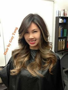 Cut and color by Guy Tang.Soft Ombre by Guy Tang