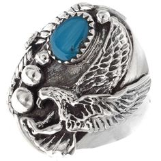 Turquoise Indian Mens Ring 25087 | Alltribes