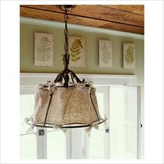 linen lampshade