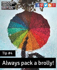 Always be prepared! Pack an umbrella. Rainbow. Staycation. Holiday. Travel. UK. Britain.