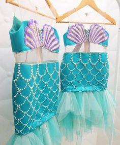 little mermaid costume idea Mermaid Theme Birthday, Little Mermaid Birthday, Little Mermaid Parties, The Little Mermaid, Mermaid Dress For Kids, Mermaid Costume Kids, Honey Bee Kids, Ariel Dress, Halloween Disfraces