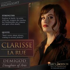 'Percy Jackson: Sea of Monsters': Clarisse is added to the Compendium