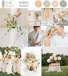 Barely Peach Inspiration Board #peachweddinginspiration #peachwedding