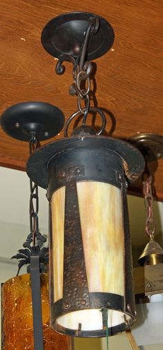 Arts U0026 Crafts Exterior Pendant; Hammered Bronze [AUG15 4]   $450.00 : Architectural  SalvageVintage ...