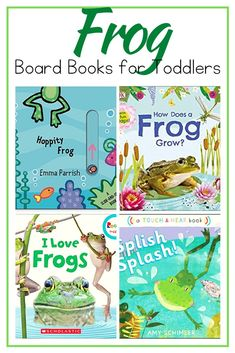 This spring, introduce your little ones to frogs with this collection of fiction and nonfiction frog books for toddlers. These board books are the best! Frog Activities, Animal Activities For Kids, Preschool Learning Activities, Hands On Activities, Toddler Preschool, Preschool Activities, Nursery Rhyme Crafts, Best Toddler Books, Board Books For Babies