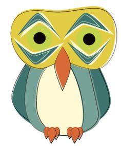 Slightly Shocked Retro Owl