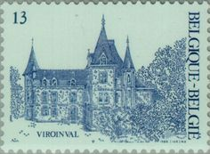 Sello: Tourism: Viroinval (Bélgica) (Logne Castle, Ferrieres) Mi:BE 2273,Sn:BE 1251,Yt:BE 2221,Bel:BE 2221