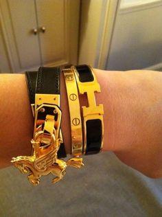 Hermes & Cartier love braclete