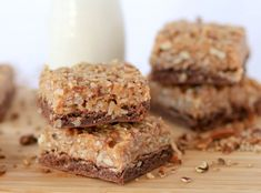 German Chocolate Cake Bars
