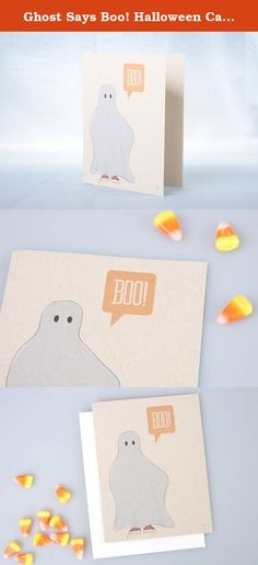 Ghost Says Boo! Halloween Card from acbc Design || This original illustration captures the fun of kids playing ghost - a great way to send your holiday greetings to young and old alike!. Halloween is full of lots of ghouls and ghosts - and there is nothing more fun as a kid than grabbing a sheet and spreading the ghostly scares. This original illustration captures the fun of kids playing ghost - a great way to send your holiday greetings to young and old alike! The little spirit is saying...