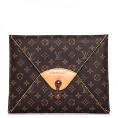This is an authentic LOUIS VUITTON Monogram Visionaire Portfolio Case. This stylish case is finely crafted of classic Louis Vuitton monogram on toile canvas.