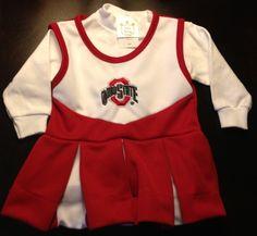 Ohio State OSU Buckeyes Infant Baby 6 Months Cheerleader Dress Halloween Costume
