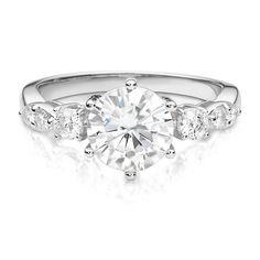 Forever Brilliant® 2 1/4 ct. tw. Moissanite Engagement Ring in 14K White Gold