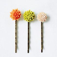 Vintage Flower hair pins