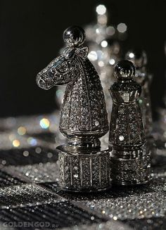 A diamond chess set for a different kind of luxury playroom. | Fifty Shades of Grey | In Theaters Valentine's Day