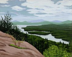 Fourth Lake from Bald Mnt (painting)