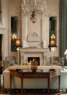 Robert Reeder Interiors - The bas-relief above the mantle in this Great Room is by the same sculptor who worked on the National Cathedral in Washington, D.C.
