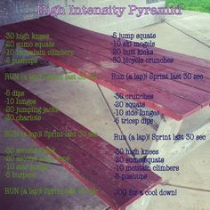 Pyramid Workout with Cardio!