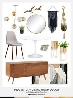 Dining in Style: Neutral Mid-Century Modern Dining Room Decor