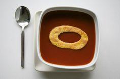 Modern Art Desserts: From Mondrian Cake to Matisse Parfait   Brain Pickings -- Donald Judd tomato soup