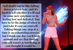 The Most Inspiring Advice Taylor Swift Gave Fans In 2014. #taylorswift #buzzfeed #advice #rolemodel