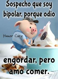 Funny Spanish Jokes, Mexican Funny Memes, Cute Spanish Quotes, Spanish Humor, Funny Jokes, Funny Pigs, Cute Pigs, Mexican Words, Pig Illustration