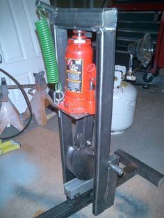 Tube Bender by Deviant_Illusion -- Homemade tube bender fabricated from steel and powered by a bottle jack. http://www.homemadetools.net/homemade-tube-bender-28