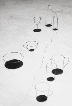 Small Black Vase Series by Nendo. Created for David Design.
