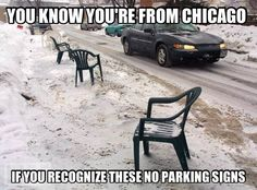 No parking signs, Chicago style