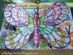 Tejas Verdes Mariposas De Colores