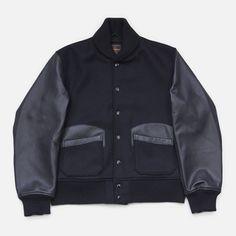 Black on black. Golden Bear Varsity for Engineered Garments.