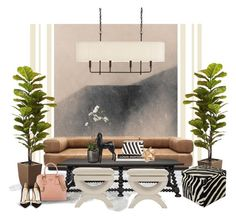 """""""Untitled #26 art..."""" by gloriettequartet ❤ liked on Polyvore featuring interior, interiors, interior design, home, home decor, interior decorating, Arteriors, Sia, Kelly Wearstler and Dot & Bo"""