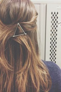Use your bobby pins as graphic hair accessories.   29 Hairstyling Hacks Every Girl Should Know
