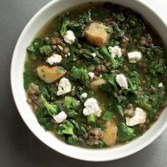 Very Green Lentil Soup Recipe