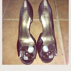 Nine West jeweled heels *SALE* Beautiful peep toe heels size 8. Never worn have been in storage. NWOT. No trades. I do accept reasonable offers and I do bundle!! Nine West Shoes Heels