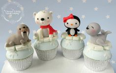 Winter Animal Cupcakes by The Clever Little Cupcake Company