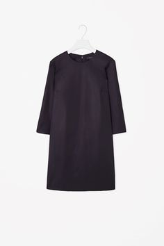Straight-cut wool dress