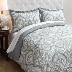 Jovi Home Parker Grey 3-piece Duvet Cover Set   Overstock.com Shopping - The Best Deals on Duvet Covers