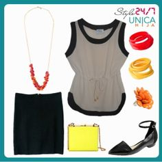 Hype up your outfit with bright accessories!
